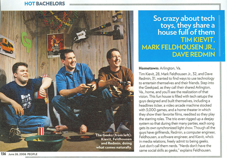 Tim, Mark and Dave in People's Hottest Bachelors issue (June 26, 2006)